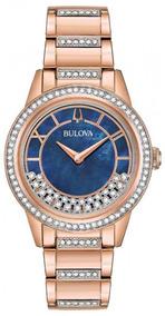 Relógio Bulova Feminino Crystal Turnstyle 98l247
