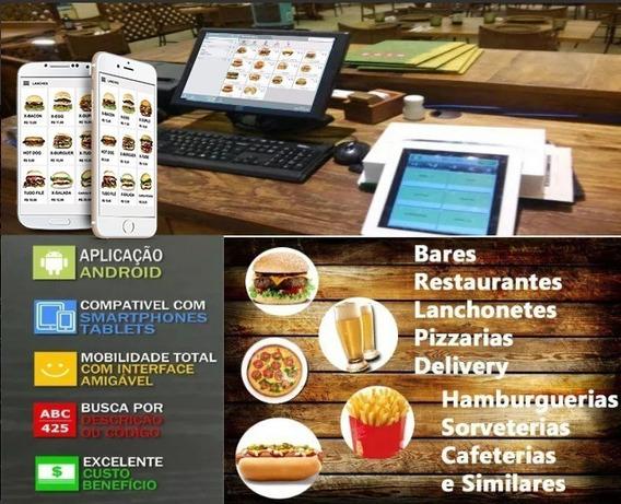 Sistema Pedido Tablet Smartphones, Lanches, Pizzaria, Bares
