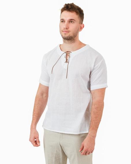 Camisa De Manta Con Cordón
