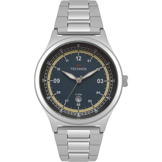 Relógio Technos Masculino Militar 2115mqx1a Prata