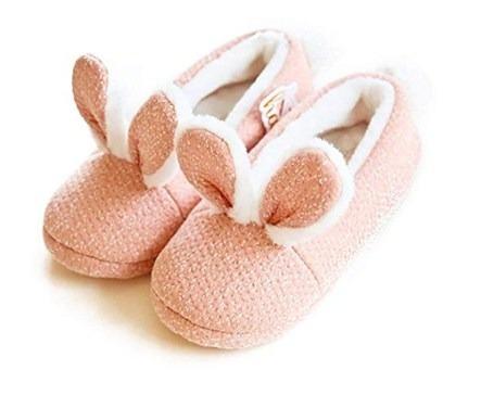 Zapatillas De Casa Acogedoras De Lana Orejas De Conejo Pps