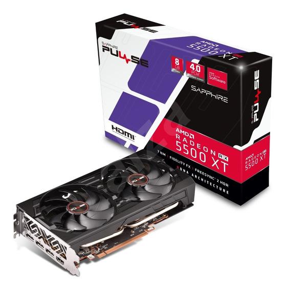 Placa De Video Sapphire Pulse Radeon Rx 5500 Xt 8gb Gddr6