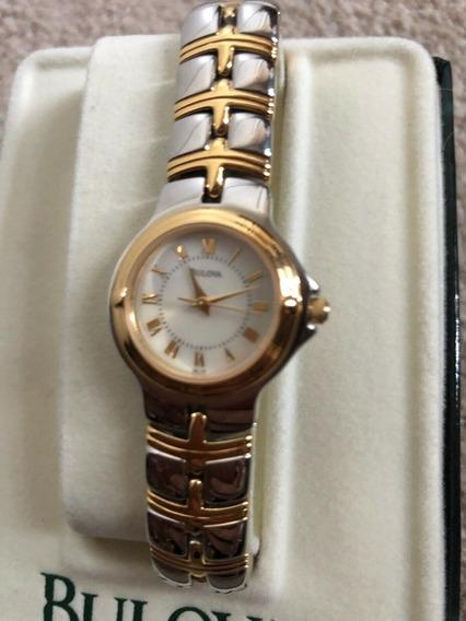 Relógio Bulova Feminino 98l56 Dois Tons Ouro E Prata