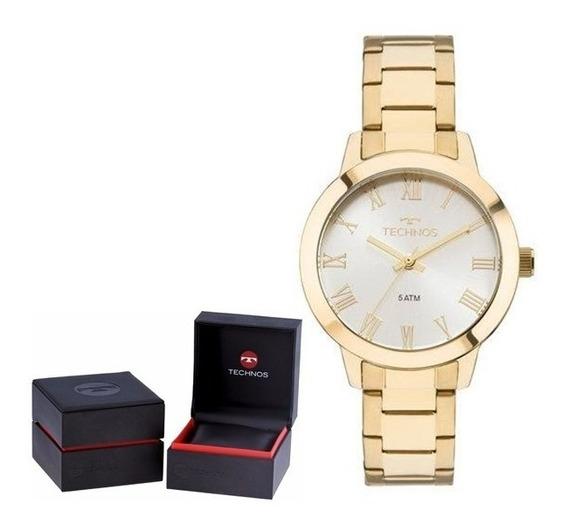Relógio Technos Feminino Elegance 2035mku/4k Original + Nf