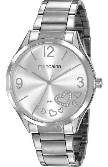Relógio Mondaine Feminino Prata Analógico Barato