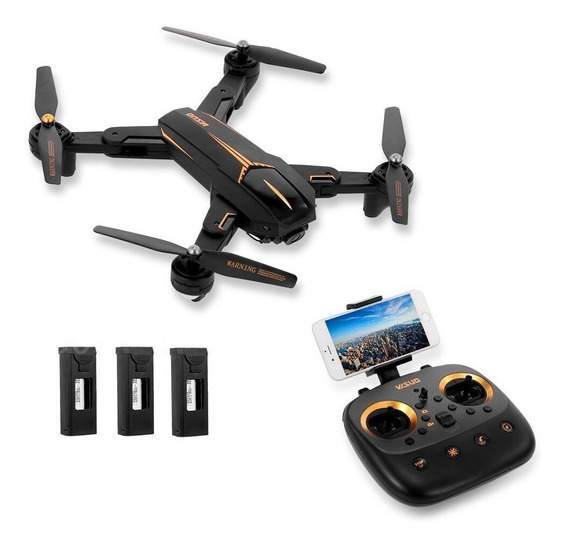 Drone Visuo Xs812 Gps Wifi 5g 4k C/3 Baterias + Case Transp