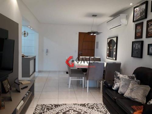 Apartamento Com 2 Dormitórios À Venda, 78 M² Por R$ 425.000 - Vila Guilhermina - Praia Grande/sp - Ap2903