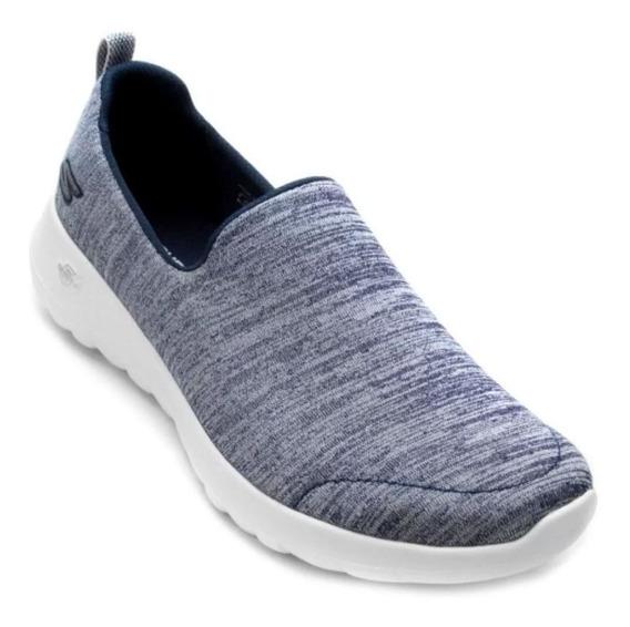 Sapatilha Skechers Go Walk Joy Feminino - Azul E Branco