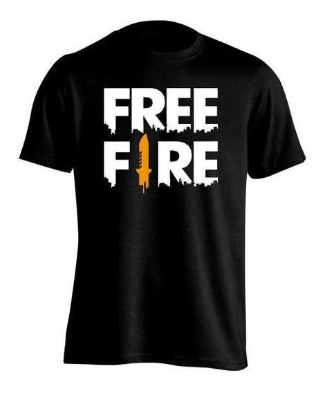 Remera Niña Free Fire Logo Grande