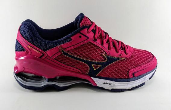Tênis Mizuno Wave Frontier 11 Feminino Pink/marinho