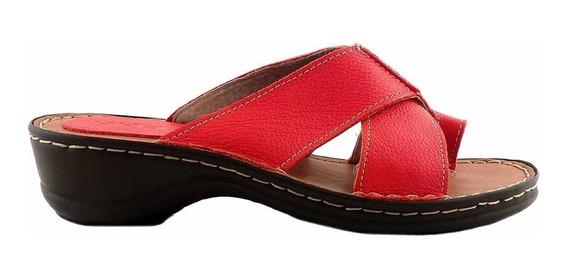 Chinela Mujer Cuero Briganti Zapato Sandalia Mcch02735 Fl