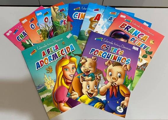 Livro Infantil Colorindo Histórias Clássicas C/10 Unidades