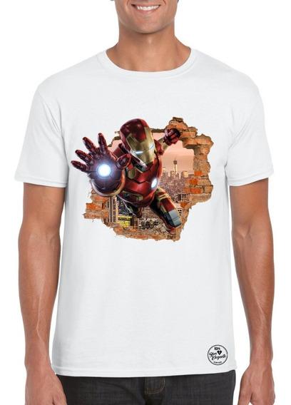 Playera Bien Elegante Avengers Iron Man 2 Para Adulto Msi