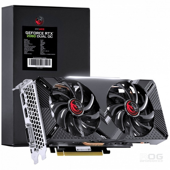 Placa De Video Pcyes Rtx 2060 6gb Oc Dual Pp2060doc1926g6