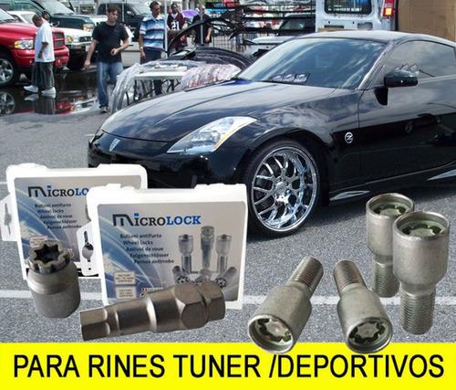 Imagen 1 de 6 de Birlos De Seguridad Microlock Para Rines Deportivos1