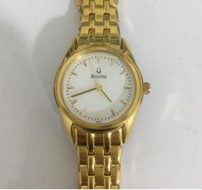 Relógio Bulova C93511 Dourado Original Seminovo Funcionando