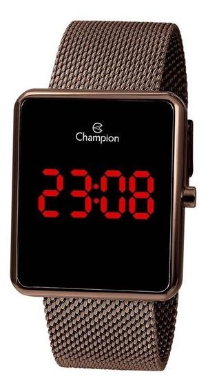 Relógio Champion Feminino Marrom Digital Ch40080r