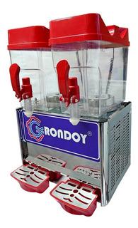 Máquina Refresquera De 2 Tolvas Dispensadora Rojo + Regalo