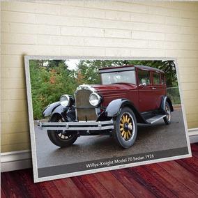 Willys-knight Model 70 Sedan 1926 - Tam. Gigante 60x42cm