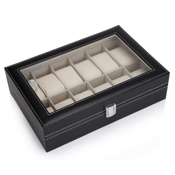 Caja Organizadora 12 Relojes Excelente Calidad / M. O.