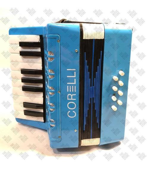 Acordeon A Piano Corelli Para Niños 17 Teclas 8 Bajos