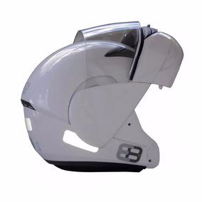 Capacete Moto Ebf 61 E08 Articulado Robocop Branco