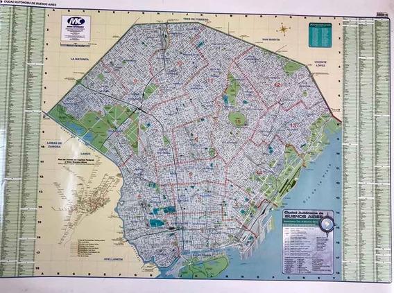 Mapa Capital Federal Laminado 130 X 95 Usado