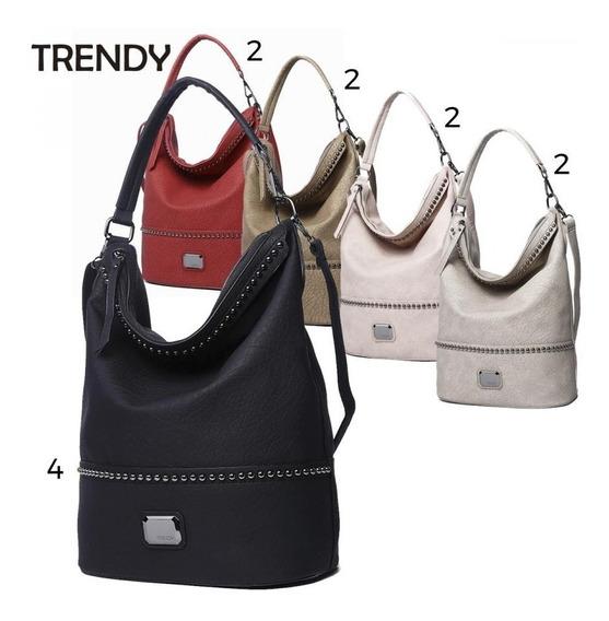 Cartera Trendy Grande Con Textura