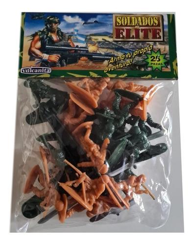 Pack Soldaditos X 25 Piezas Vulcanita Baloo Toys