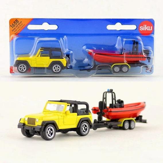Jeep Con Trailer Y Bote - Siku Series 16