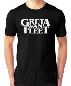 Camiseta Greta Van Fleet Camisa Básica Masculina Rock