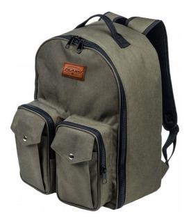 Mochila Pesca Backpacks Com 3 Estojos Verde Oliva - Plano