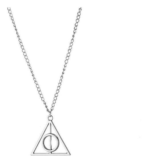 Colar Pingente Reliquia Da Morte Harry Potter Triangulo