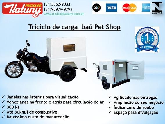 Triciclo De Carga Baú Pet Shop