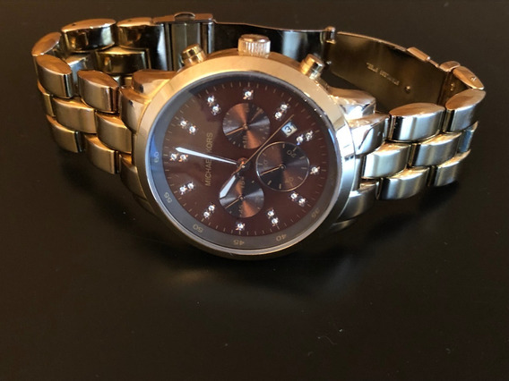 Relógio Michael Kors Mk5415 Orig Chron Anal Gold Rosé