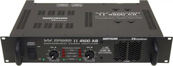 Ciclotron W Power 4500 Ab Potência Amplificador Ponta De Estoque