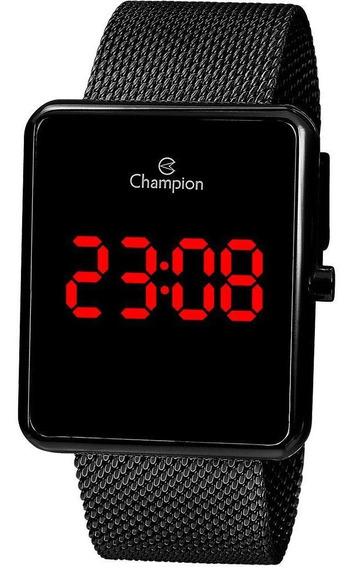 Relógio Digital Champion Unissex Preto Quadrado Ch40080d
