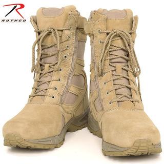 Bota Táctica Militar Zipper Tan Rothco