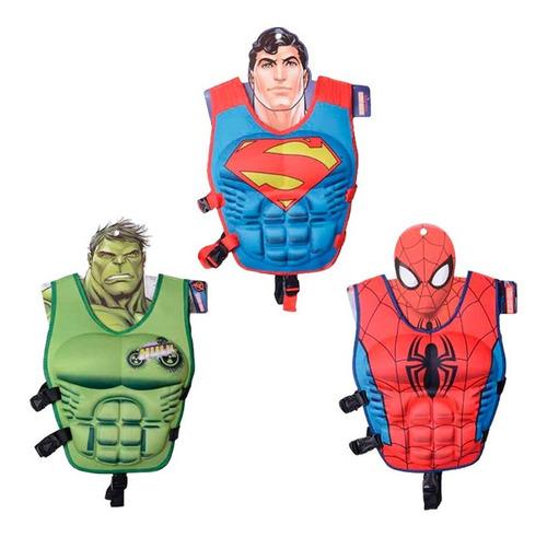 Chaleco Salvavidas Super Heroes Marvel Flotador Para Niños