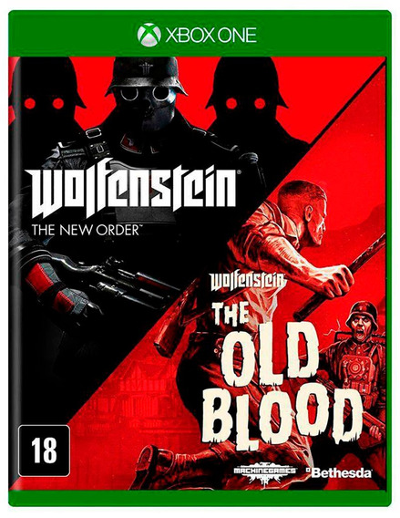 Wolfenstein The Two Pack Xbox One Mídia Física Novo Lacrado
