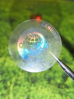 1000 Hologramas Transparentes Original De 2cm Daño Al Despeg