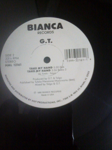 G.t. - Take My Hand (12 ) (bianca Records
