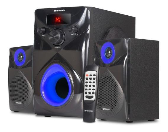 Caixa De Som 50w Home Theater 2.1 Bluetooth Fm Usb Subwoofer