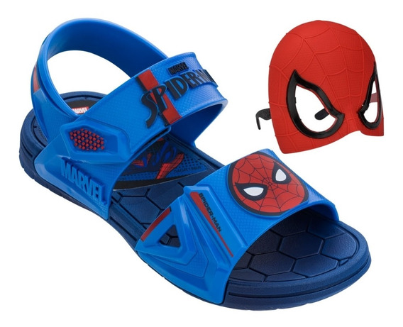 Papete Infantil Masculina Homem Aranha Avengers Com Máscara