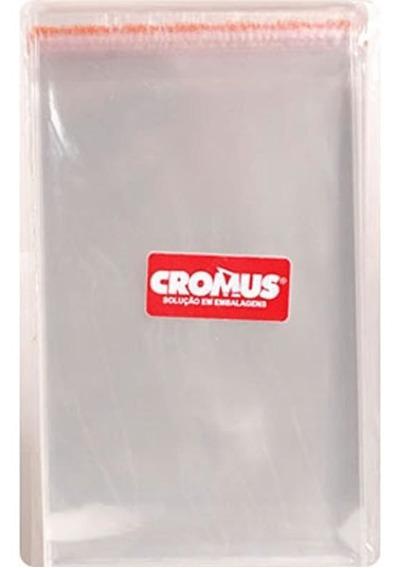 Saco Transparente Com Aba Adesiva 11x18 Cromus Com 100 Un