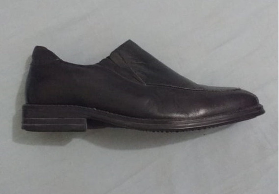 Sapato Social Samello Bico Quadrado Preto Couro Masculino