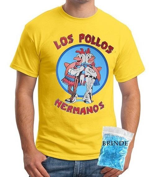 Camiseta Breaking Bad Pollos Hermanos Amarela - Algodão