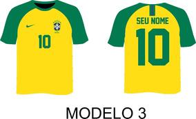 Camisa, Camiseta Personalizada Do Brasil, Seleção