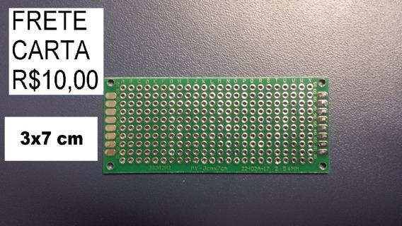 Pcb Pci Placa Dupla Face Prototipos 3x7 7x3 Cm (r$4/peça)