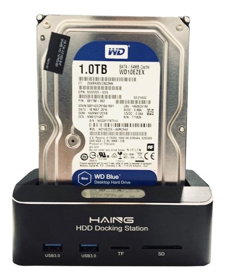 Dock Disco Duro 2.5 3.5 Sata Hdd Usb 3.0 10tb Multilector